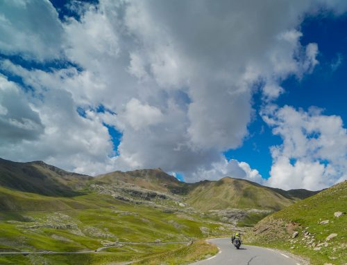 Riding Col de la Bonette to Jausiers