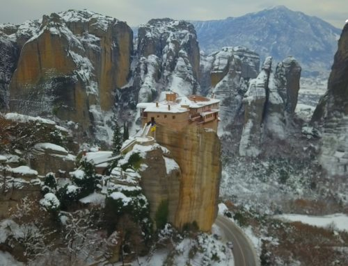 The Monasteries of Meteora In the snow